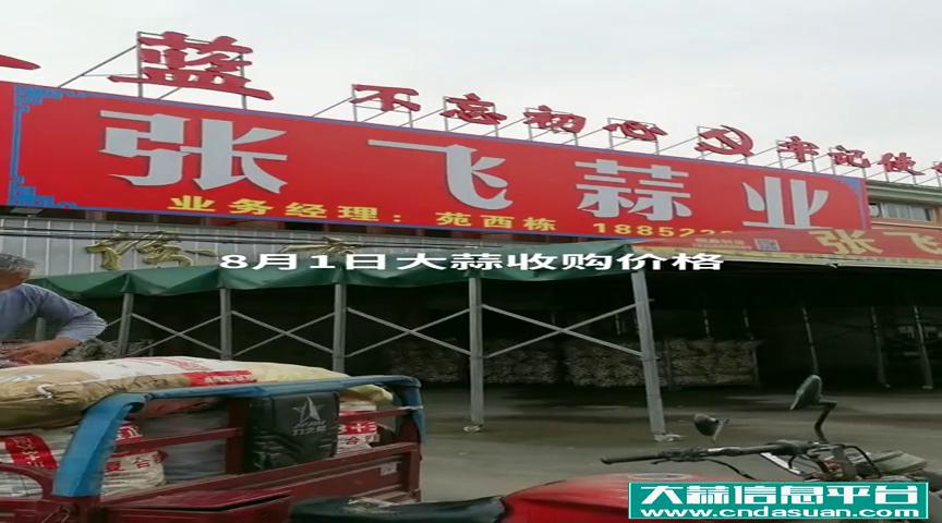 邳州张飞蒜业8月1日大蒜收购价格
