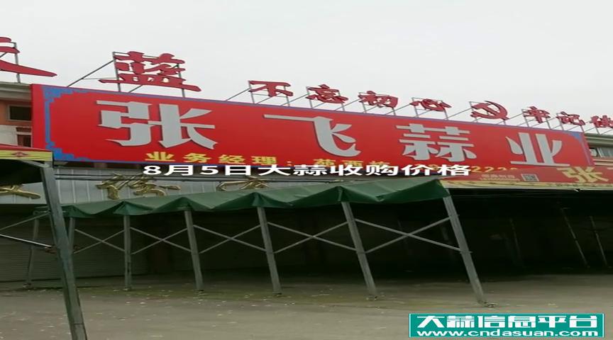8月5日邳州车夫山张飞蒜业大蒜收购价